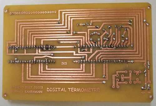 đơn giản kỹ thuật số nhiệt kế mạch