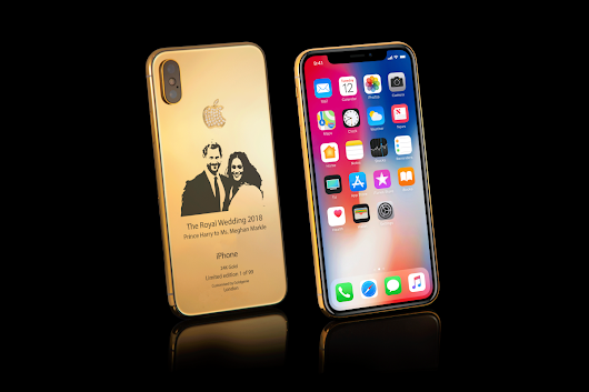 24K gold Royal Wedding iPhone X celebrates Harry and Meg's big day and costs over £3,500