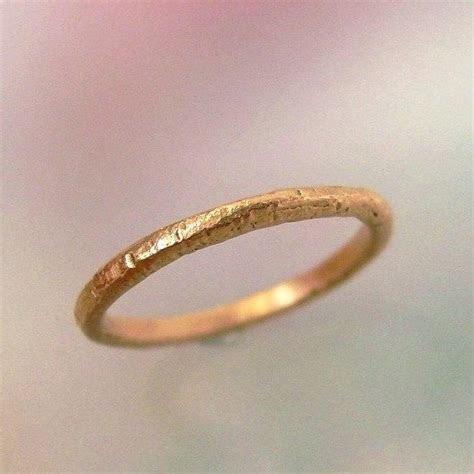 Rose Gold Wedding Band, Rustic Wedding Ring, Textured 14k