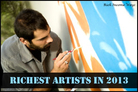 10 Most Popular and Richest Artists in 2013