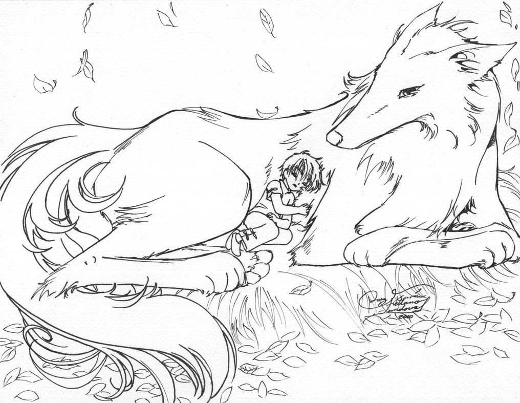 11 Pics Of Winged Wolf Pack Coloring Pages - Winged Wolf ...