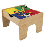 KidKraft 2-in-1 Activity Play Table with Plastic Building Block Board Multicolor by VM Express
