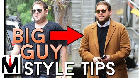 dress heavy set men big men style tips