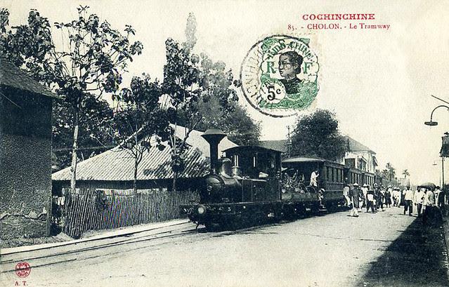 Saigon  Cholon  - Le tramway