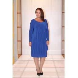Платье Klimini Шампань. Цвет: синий