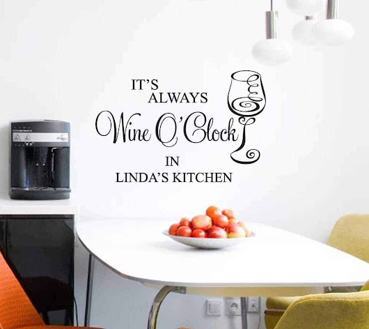 Wine wall decal sticker personalised | wall art decal sticker