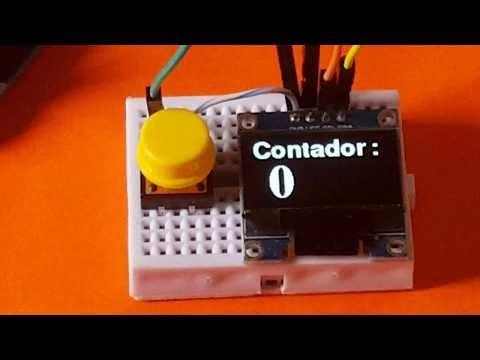 Cómo hacer un contador (Pulsador + Arduino UNO + OLED display)