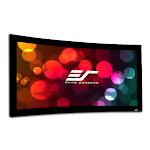 Elite Screens Lunette Series Curve235-115A1080P3 Projection Screen - Black