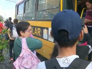 Transporte escolar em Campina Grande (Foto: Reprodução / TV Paraíba)