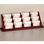 Wooden Mallet Business Card Holder - 12 Pocket - Mahogany