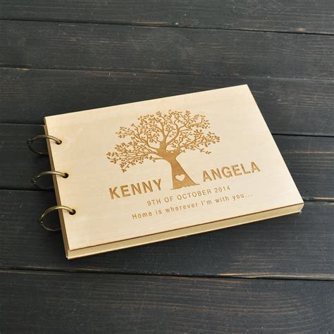 Custom Wedding Tree Guest Book, Wedding Guestbook Album