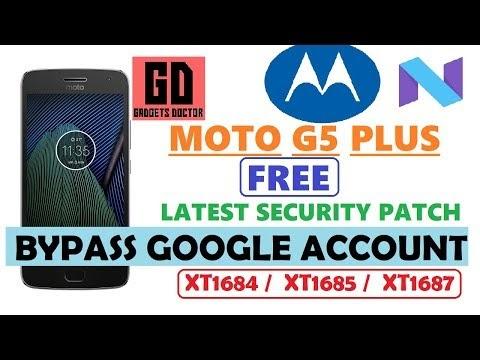 MOTO G5 PLUS (XT1684 / XT1685 / XT1687 )FRP BYPASS GOOGLE ACCOUNT
