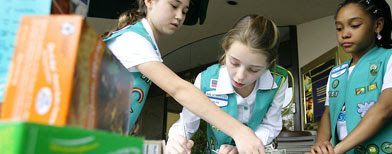 Girl Scouts selling cookies (AP Photo/Matt Slocum)