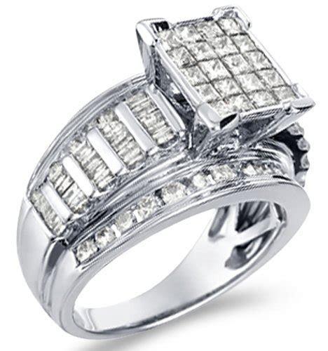@$ Deals for 14k White Gold Diamond Large Engagement