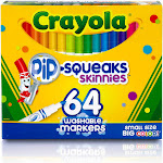Crayola Pip-Squeaks Skinnies - Marker - non-permanent - assorted colors - pack of 64