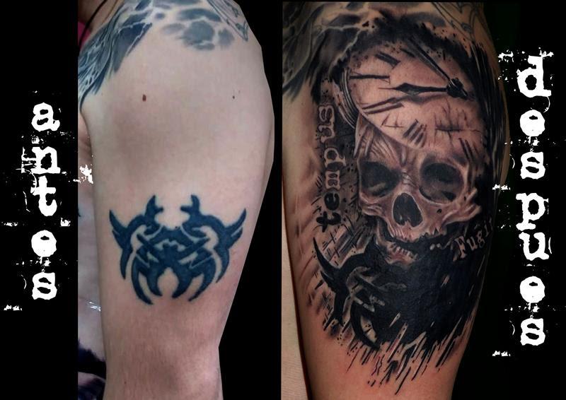 Calavera Reloj Tatuajes Online