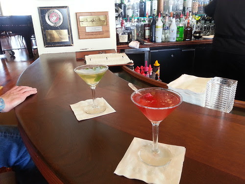 Dream Girl and Passion Martinis at Top of the Mark