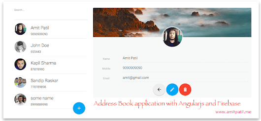 Address book application with angularjs and google firebase - Part 1