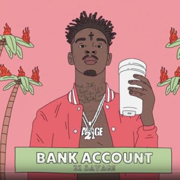 Image result for 21 savage bank account