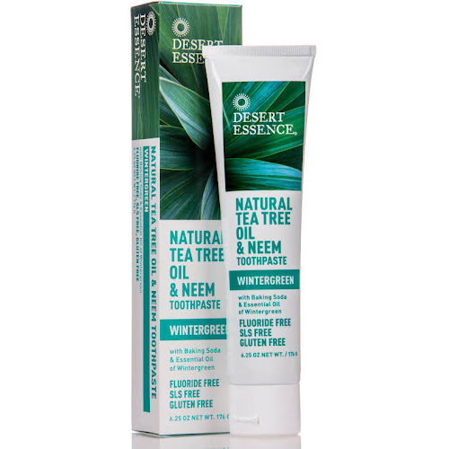 Desert Essence Tea Tree Oil & Neem Toothpaste, Wintergreen - 6.25 oz tube