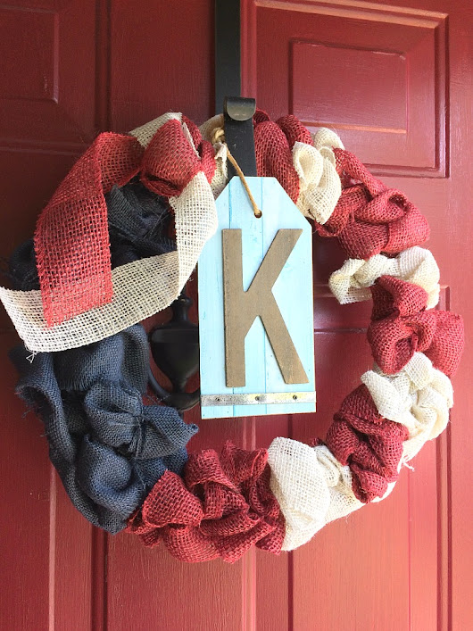 Patriotic Red, White & Blue Bubble Wreath