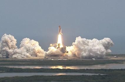 Liftoff of space shuttle Atlantis