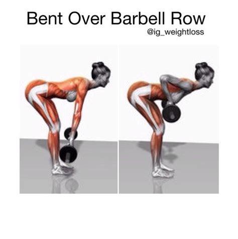 barbell row stop talking    pinterest