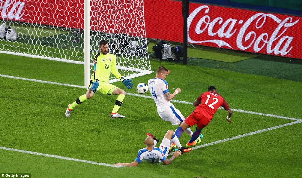 The Slovakia goalkeeper produced another fine save to deny the Liverpool right back as England pushed hard for an opening goal
