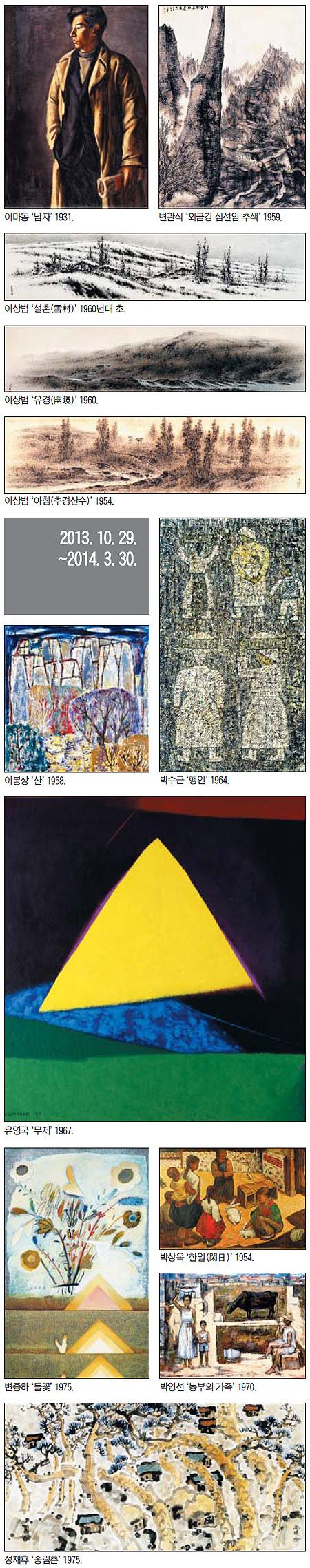 한국근현대회화전 전시 작품들2