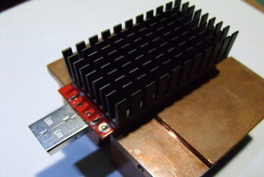 Overcloking ASIC miner USB senza usare ventole