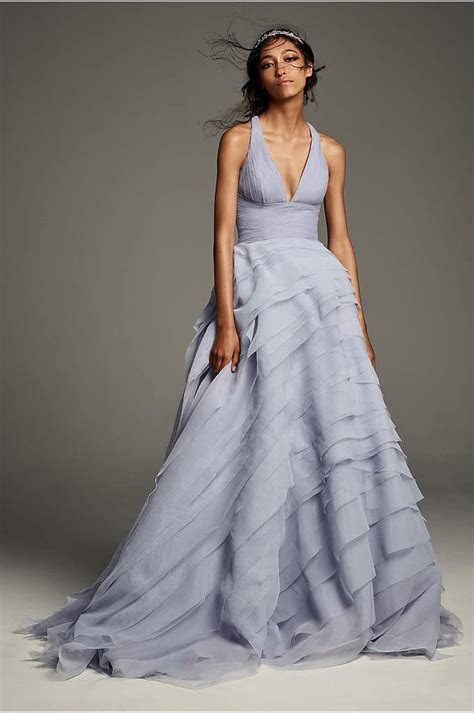 White by Vera Wang Halter Sheath Wedding Dress   David's