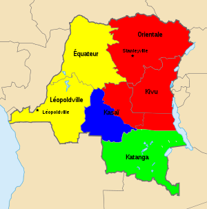 Map of Territorial Control during the Congo Cr...