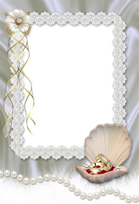 Beautiful Wedding Transparent Photo Frame   Gallery