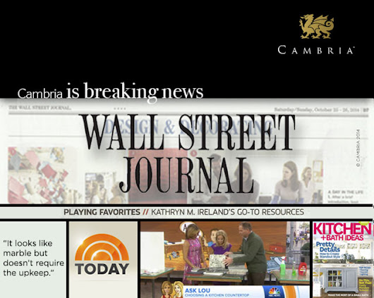 Cambria is hot off the press in The Wall Street Journal