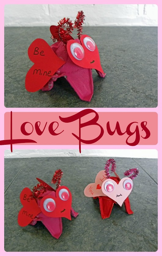 Love Bugs Valentine's Day Craft - The Kid's Fun Review