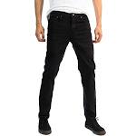 Alta Designer Fashion Mens Slim Fit Skinny Denim Jeans - Black