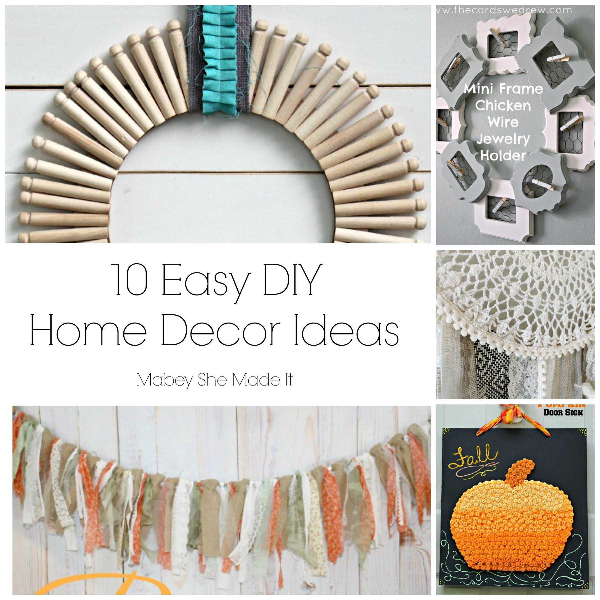 10 Fun Home Decor Ideas Mabey She Made It Various Crafts