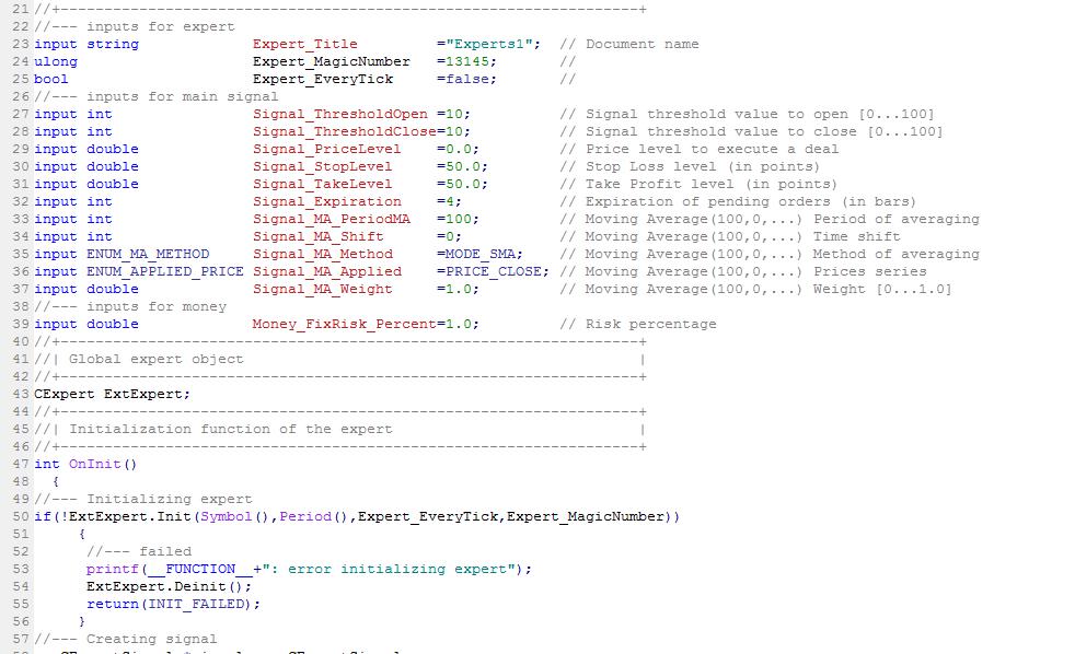 forex ea code