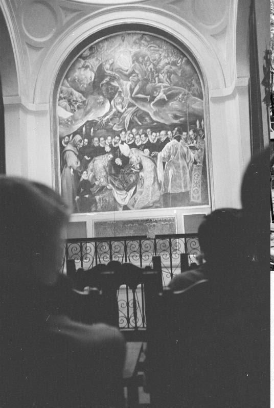 Entierro del Señor de Orgaz en septiembre de 1962. Fotografía de Harry Weber. Österreichische Nationalbibliothek