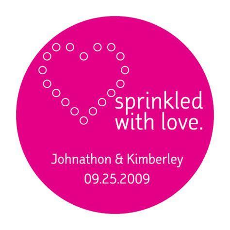 Sprinkled with Love Stickers: Weddingfavours.ca