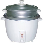 Brentwood - 4 Cup Rice Cooker and Steamer - White
