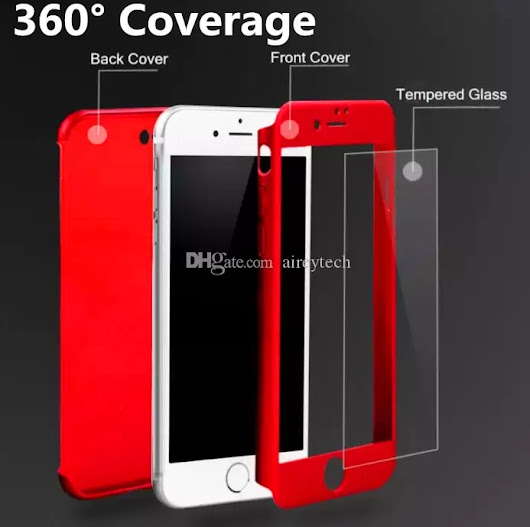 DHL Free 360 Degree Full Body 360° Protective Case Cover with Tempered Glass Film Screen Protector for IPhone 6 6S 7 Plus IPhone 7 Case IPhone 7 Plus Case IPhone Case Online with $1.97/Piece on Aireytech's Store | DHgate.com