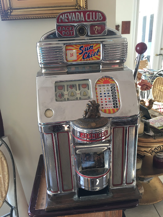 One Cent Jennings Chief Nevada Club Antique Slot Machine | Gameroom Show