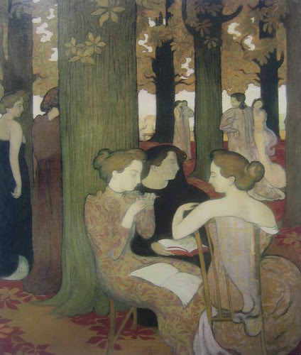 The Muses (detail), Maurice Denis, 1893, Musée d'Orsay, De Young Museum, San Francisco