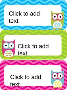 Subject labels and times (agenda) Owl theme classroom decoration ...