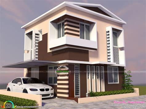 storied modern house  small plot kerala home
