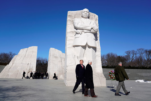 WATCH: Trump marks MLK day with memorial visit