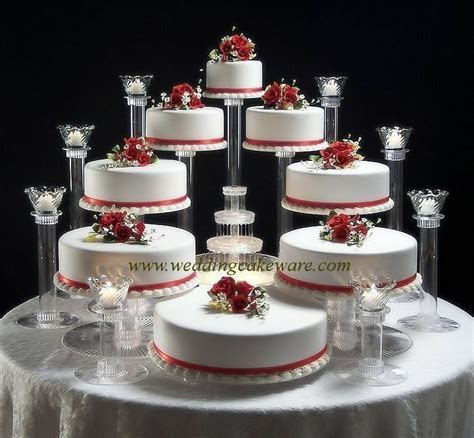 8 TIER CASCADING WEDDING CAKE STAND / 8 TIER CANDLE STAND