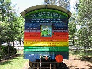 English: The Rainbow Train in Heritage Park, L...