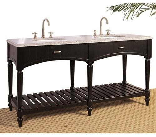 Solomon Double Sink Bathroom Vanity - contemporary - bathroom ...